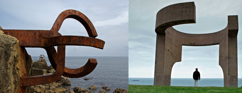 Sculptures abstract art by Eduardo Chillida