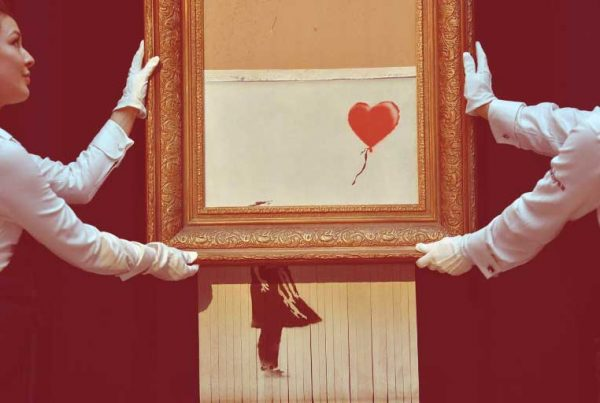 Niña con globo de Banksy se convierte en esta nueva obra