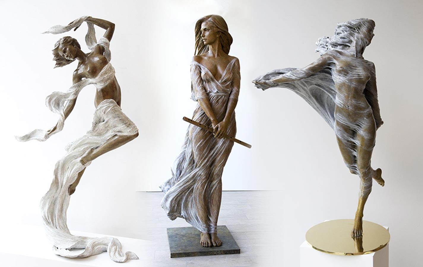 Luo Li Rong: Esculturas en bronce de mujeres a tamaño real