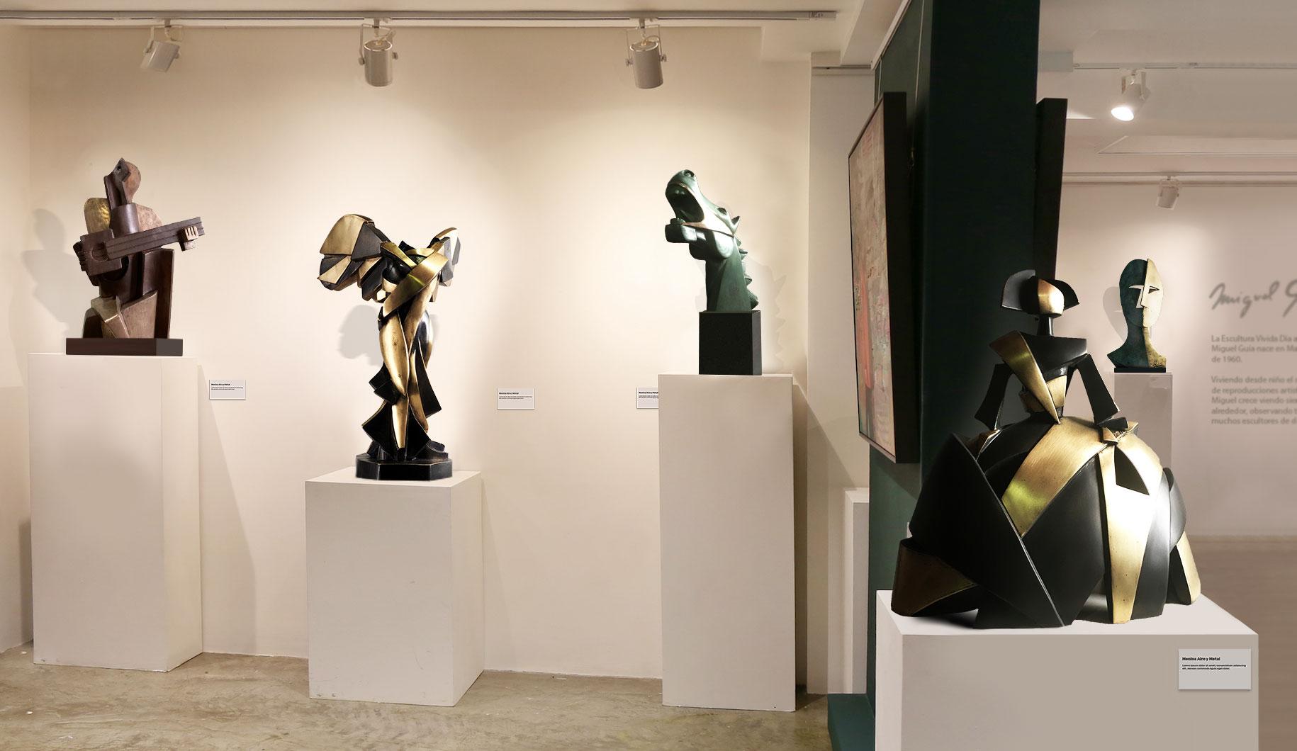 Comprar esculturas cubistas en bronce