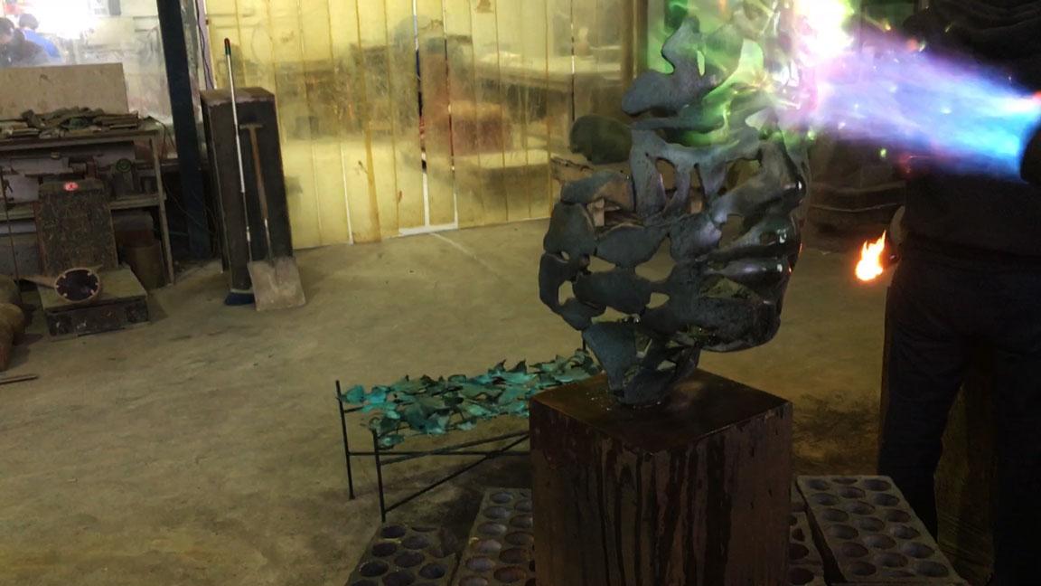 pátina escultura bronce de fundición a la cera perdida