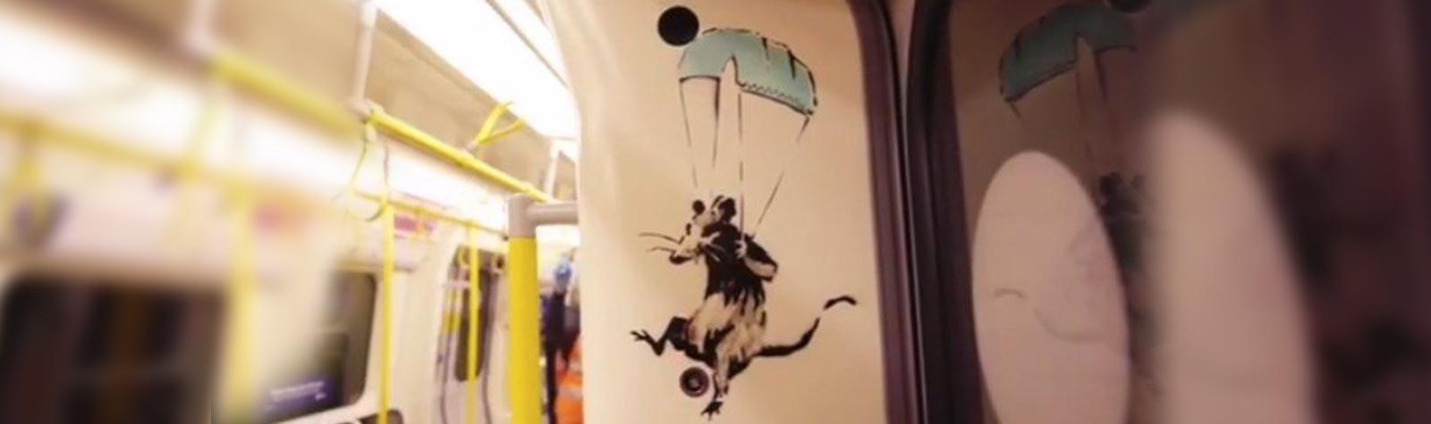 Banksy en el metro de Londres por el Covid-19